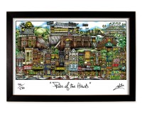 Pubs of the Hawks Framed Print-01